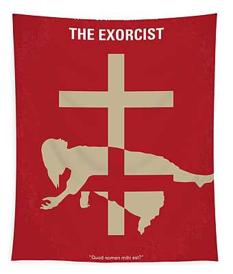 No666 My The Exorcist Minimal Movie Poster Tapestry