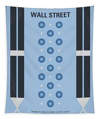 No683 My Wall Street Minimal Movie Poster Tapestry