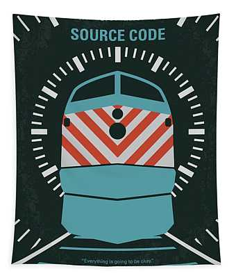 No685 My Source Code Minimal Movie Poster Tapestry