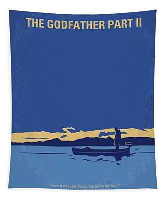 No686-2 My Godfather II Minimal Movie Poster Tapestry