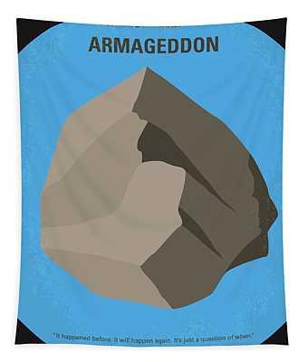 No695 My Armageddon Minimal Movie Poster Tapestry
