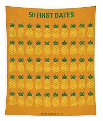 No696 My 50 First Dates Minimal Movie Tapestry