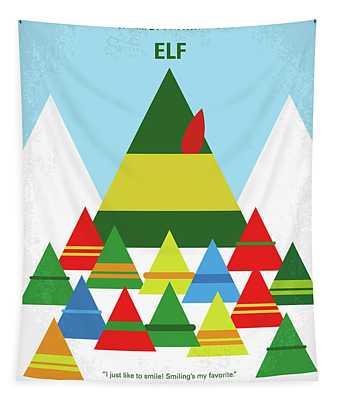 No699 My Elf Minimal Movie Poster Tapestry