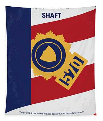 No705 My Shaft Minimal Movie Poster Tapestry