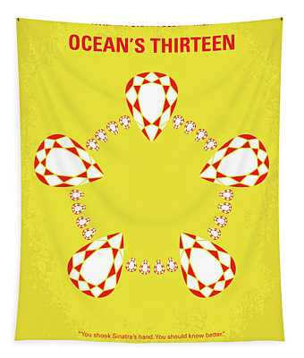 No706 My Oceans 13 Minimal Movie Poster Tapestry
