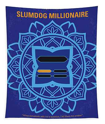 No708 My Slumdog Millionaire Minimal Movie Poster Tapestry
