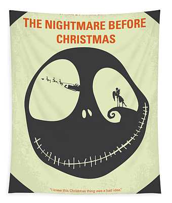 No712 My The Nightmare Before Christmas Minimal Movie Poster Tapestry