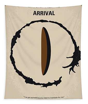 No735 My Arrival Minimal Movie Poster Tapestry