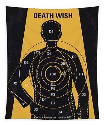 No740 My Death Wish Minimal Movie Poster Tapestry