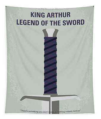No751 My King Arthur Legend Of The Sword Minimal Movie Poster Tapestry