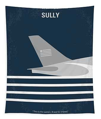 No754 My Sully Minimal Movie Poster Tapestry