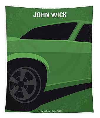 No759 My John Wick Minimal Movie Poster Tapestry