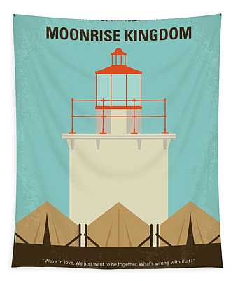 No760 My Moonrise Kingdom Minimal Movie Poster Tapestry