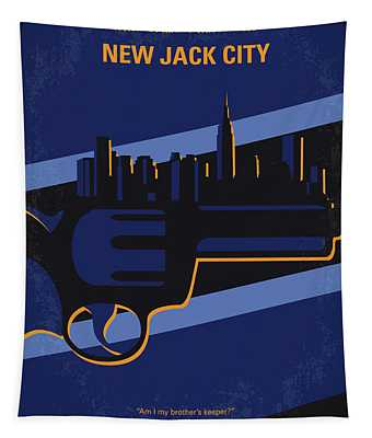 No762 My New Jack City Minimal Movie Poster Tapestry