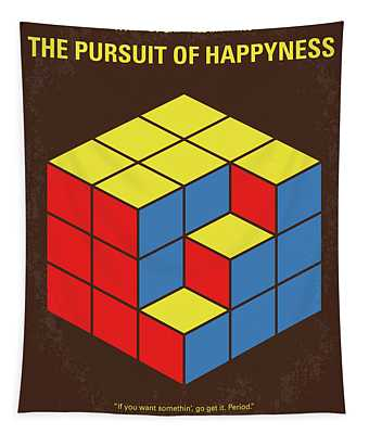 No775 My The Pursuit Of Happyness Minimal Movie Poster Tapestry