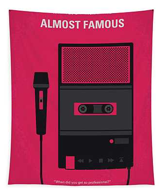 No781 My Almost Famous Minimal Movie Poster Tapestry