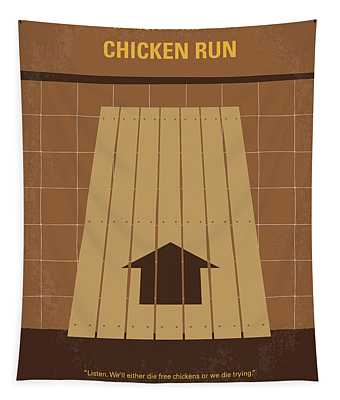 No789 My Chicken Run Minimal Movie Poster Tapestry
