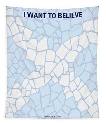 No792 My I Want To Believe Minimal Movie Poster Tapestry