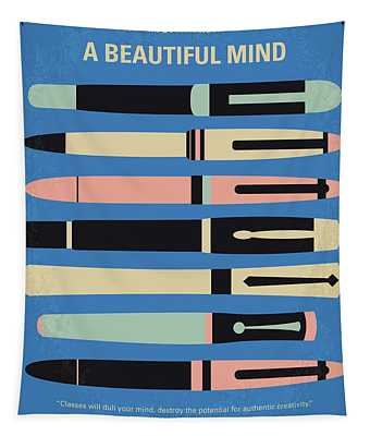 No809 My A Beautiful Mind Minimal Movie Poster Tapestry