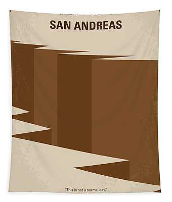 No810 My San Andreas Minimal Movie Poster Tapestry