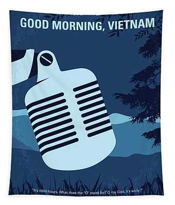 No811 My Good Morning Vietnam Minimal Movie Poster Tapestry