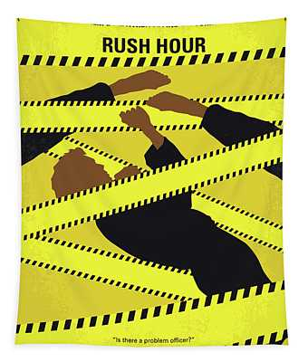 No816 My Rush Hour Minimal Movie Poster Tapestry