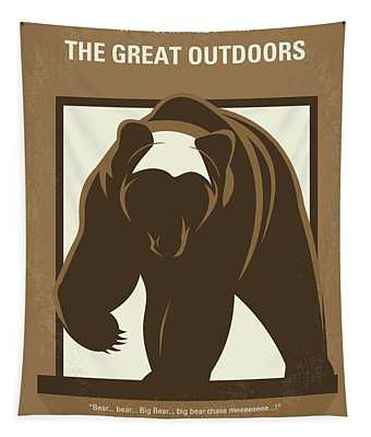 No824 My The Great Outdoors Minimal Movie Poster Tapestry