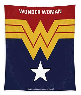 No825 My Wonder Woman Minimal Movie Poster Tapestry