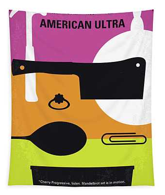 No827 My American Ultra Minimal Movie Poster Tapestry