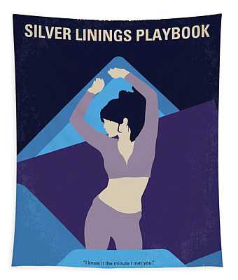 No832 My Silver Linings Playbook Minimal Movie Poster Tapestry