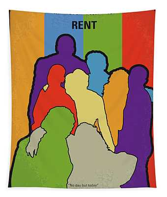 No842 My Rent Minimal Movie Poster Tapestry