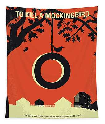 No844 My To Kill A Mockingbird Minimal Movie Poster Tapestry