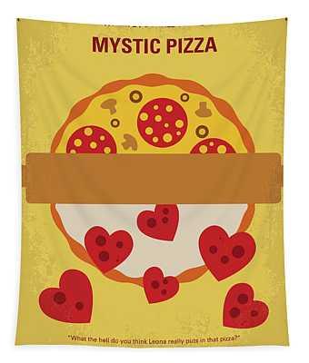 No846 My Mystic Pizza Minimal Movie Poster Tapestry