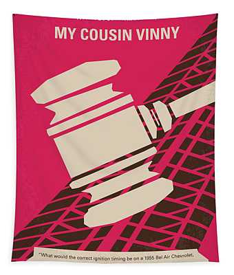 No852 My Cousin Vinny Minimal Movie Poster Tapestry