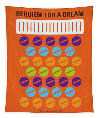 No858 My Requiem For A Dream Minimal Movie Poster Tapestry