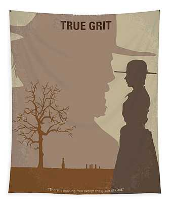 No860 My True Grit Minimal Movie Poster Tapestry