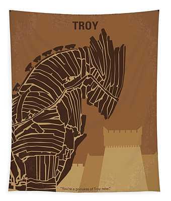 No862 My Troy Minimal Movie Poster Tapestry