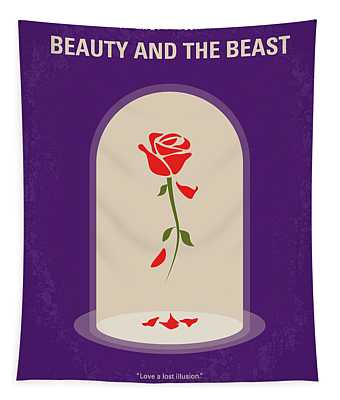 No878 My Beauty And The Beast Minimal Movie Poster Tapestry