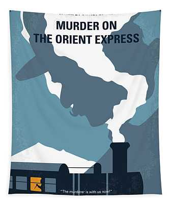 No883 My Murder On The Orient Express Minimal Movie Poster Tapestry