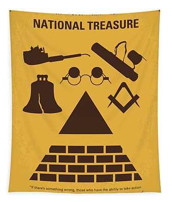 No887 My National Treasure Minimal Movie Poster Tapestry