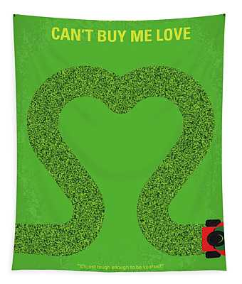 No894 My Cant Buy Me Love Minimal Movie Poster Tapestry