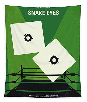 No898 My Snake Eyes Minimal Movie Poster Tapestry