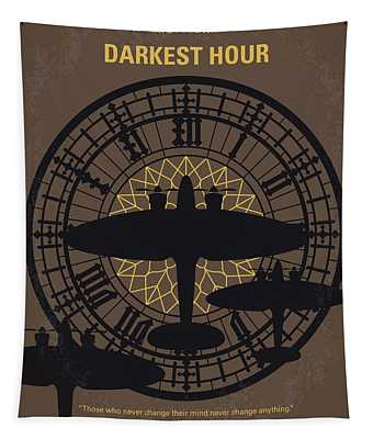 No901 My Darkest Hour Minimal Movie Poster Tapestry