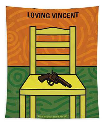 No903 My Vincent Minimal Movie Poster Tapestry