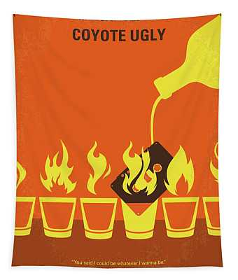 No909 My Coyote Ugly Minimal Movie Poster Tapestry