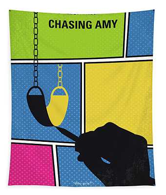 No910 My Chasing Amy Minimal Movie Poster Tapestry