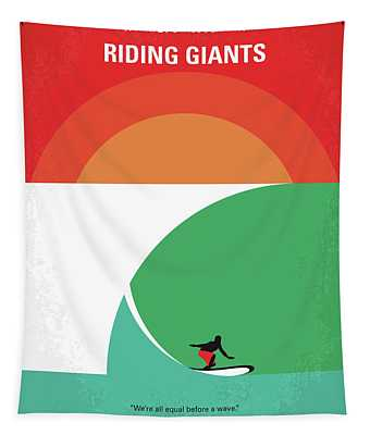 No915 My Riding Giants Minimal Movie Poster Tapestry