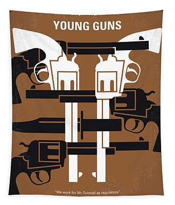 No916 My Young Guns Minimal Movie Poster Tapestry