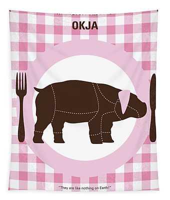 No921 My Okja Minimal Movie Poster Tapestry