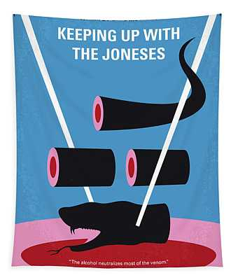 No922 My Keeping Up With The Joneses Minimal Movie Poster Tapestry
